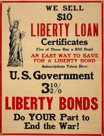 Picture of poster promoting government bonds during WWII