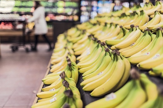pictures of bananas in a supermarket
