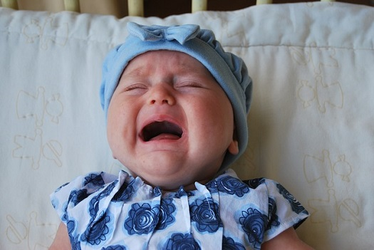 picture of a baby crying