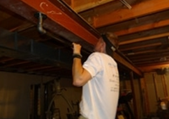 A picture of John doing a pull up