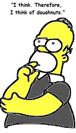 a picture of Homer Simpson thinking