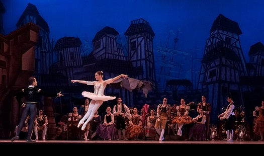 A picture of ballet performance in progress