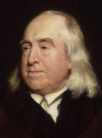 A picture of British philosopher, Jeremy Bentham
