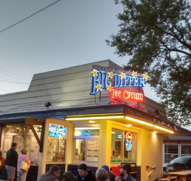 a picture of the Big Dipper ice cream joint in Missoula, Montana