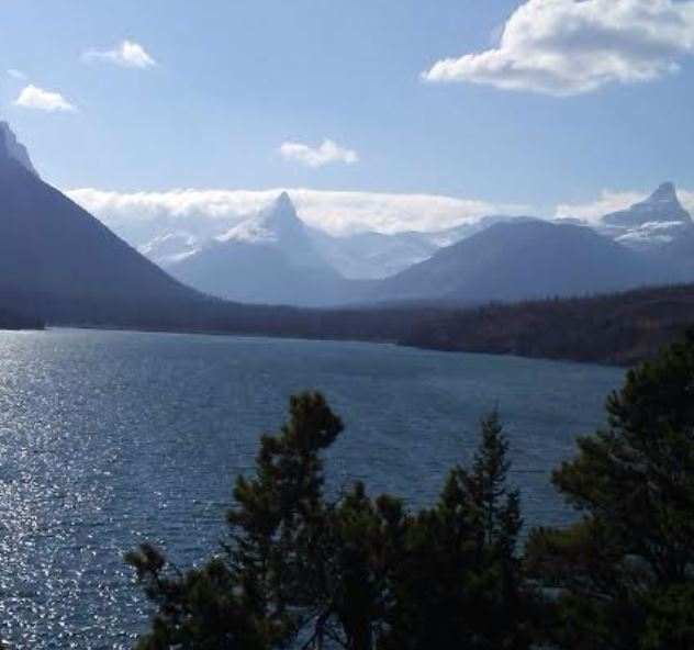 a picture of Saint Mary's Lake in Glacier National Park